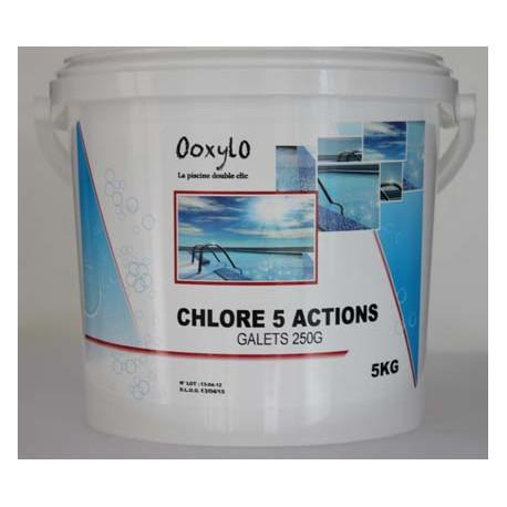Chlore 5 actions piscine au meilleur prix ooxylo for Chlore libre piscine