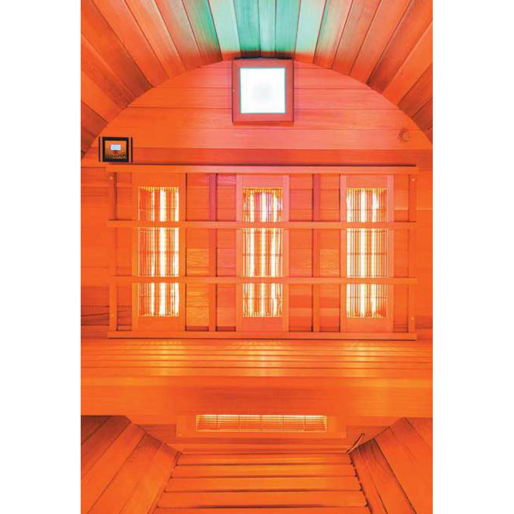 Sauna vapeur traditionnel de marque holl 39 s for Sauna infrarouge exterieur